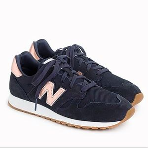 New Balance for J.Crew 520 navy rose gold sneakers